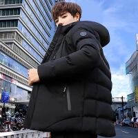 冬季棉衣男学生韩版羽绒男士棉袄短款外套加厚面包服男青少年 75黑色(送围巾) M