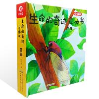 生命的奇迹立体书昆虫儿童立体书3D翻翻书0-3岁宝宝早教书生命教育立体绘本3-6岁立体抽拉科普玩具书全脑开发益智游戏书