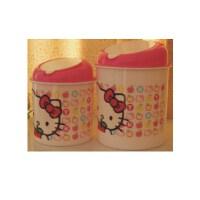 日照鑫 hello kitty 纸巾筒 垃圾桶 迷你垃圾桶 一套两个 桌面 一套装