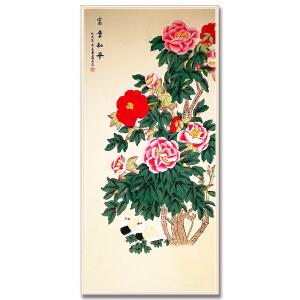 中国美术家协会会员、北京工笔重彩画会会员 耿玉轩《富贵和平》