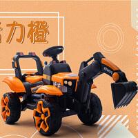 儿童挖掘机可坐可骑大号男孩电动遥控挖土机小孩超大型充电玩具车