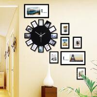 现代简约相框钟表挂钟客厅创意石英时钟静音卧室欧式挂表装饰个性