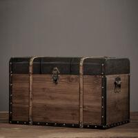美式复古北欧木箱摆设服装店橱窗陈列道具咖啡厅装饰木箱三件套