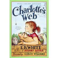英文原版 夏洛特的网彩色版 Charlotte's Web with Color Illustrations