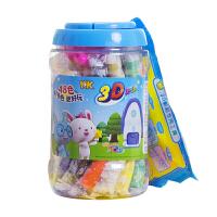 智高3D彩泥 KK魔法乐园 KK-5176 颜色随机 48色橡皮泥 桶装模具套装 儿童手工橡皮泥玩具 当当自营