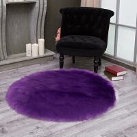 圆形地毯电脑椅子地毯梳妆台仿羊毛地垫吊篮地毯卧室地毯长毛绒冬季个性欧式地毯家居清新垫子正方形毯子美 200cm 圆形