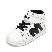 鞋柜童鞋 男童鞋运动休闲鞋斑点高帮平底单鞋-tt