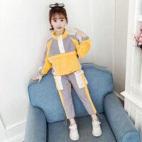2019春秋季新款洋气韩版童装中大童时髦运动两件套女童套装