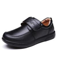 男童黑色皮鞋中大童皮鞋�和��W生表演出鞋校鞋英���L