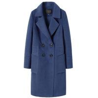 毛呢大衣女中长款宽松显瘦龙凤呢大衣秋冬新款赫本风毛呢外套