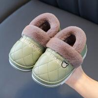儿童棉拖鞋冬包跟家居室内外保暖婴幼儿宝宝棉鞋拖