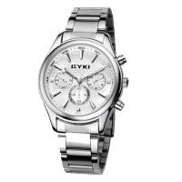 2018新款 EYKI/艾奇 高档商务情侣手表之男表 男士手表 8581 白色