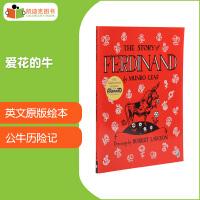 【99选5】英文原版绘本 凯迪克大奖作品 The Story of Ferdinand 爱花的牛有趣的故事绘本7-10岁