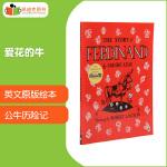 英文原版绘本 凯迪克图书大奖作品 The Story of Ferdinand 爱花的牛有趣的故事绘本7-10岁