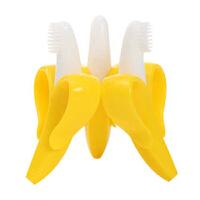 香蕉牙刷婴儿磨牙棒硅胶玩具宝宝婴幼 儿童训练牙刷