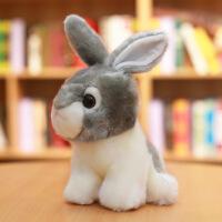 六一儿童节520兔子毛绒玩具韩国可爱仿真兔兔公仔小白兔玩偶少女心娃娃小号女生520礼物母亲节