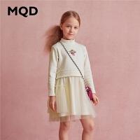 【1件2.5折券后�r:82】MQD童�b女童加�q���B衣裙2020冬�b新款�和��W�保暖洋�膺B衣裙