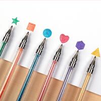 创意文具奥博文具GP-36闪光笔 水彩笔 12色水彩闪光笔 卡通闪光笔 莹光笔
