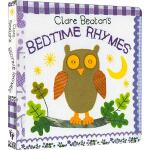 Clare Beaton's Bedtime Rhymes 英文原版 触摸纸板书 Barefoot 英文童谣 儿童绘本