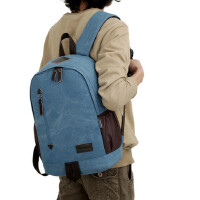 书包双肩包帆布包双肩背包男士背包电脑插袋款休闲背包