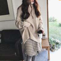 小香风女神范时尚套装女秋冬季洋气港味显瘦毛衣加搭配裙子两件套 毛衣加裙子两件套