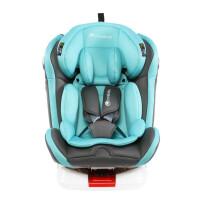 W 汽车儿童安全座椅isofix硬接口0-12岁360度旋转可躺j13 天使蓝 安全带版