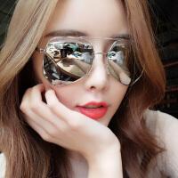 女士个性墨镜蛤蟆镜方脸眼镜2019新款潮流女士太阳镜