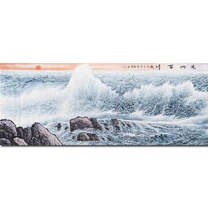 中国民族画院院长、中国大海研究会会长、一级美术师周智慧先生作品――海纳百川