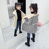 女孩加厚呢子大衣潮2019秋冬季新款儿童洋气加绒外套
