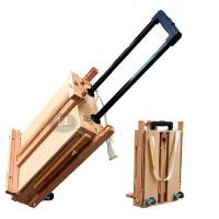 双丰牌画材 折叠拉杆 万向轮 创意油画箱 写生工具箱