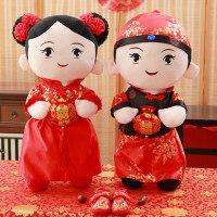 婚庆压床一对娃娃情侣洋娃娃公仔抱枕毛绒玩具新婚房喜娃结婚礼物