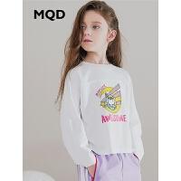 MQD童装女童长袖T恤纯棉2019秋季新款儿童韩版印花长袖T恤洋气潮