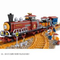 儿童奥斯尼拼装火车积木非电动轨道火车拼装男孩玩具组装拼插火车玩具 25710火车拼装积木662颗