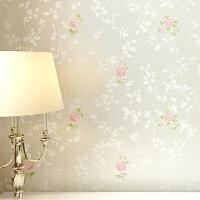 田园碎花卧室壁纸 温馨浪漫粉色小清新 婚房装饰无纺布墙纸U007情人节礼物 1号 米白色 仅墙纸
