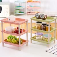 多功能厨房置物架角架落地多层架浴室台面化妆品收纳架塑料储物架
