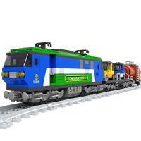 儿童奥斯尼拼装火车积木25808男孩拼装玩具学生积木8岁9岁10岁 25808拼装火车积木573片