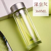 双层玻璃杯创意可爱韩国个性耐热加厚杯子隔热泡茶水杯女学生抖音