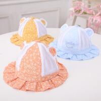 男女童渔夫帽婴儿太阳帽儿童遮阳帽子夏季宝宝透气网眼帽