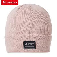 探路者帽子 秋冬户外男女通款简洁保暖针织帽TELH90824