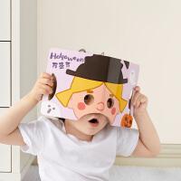 babycare儿童面具洞洞书撕不烂幼儿小孩认知书卡宝宝早教益智玩具
