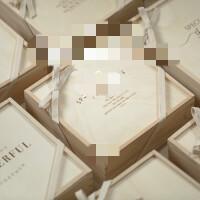 木质伴手礼盒婚礼伴娘礼品盒定制礼物盒空盒结婚喜糖盒 配烫金纸袋 / 支持雕刻定制