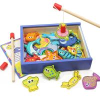 一两岁男女孩宝宝玩具1-2-3岁小孩玩具儿童磁性小猫钓鱼玩具
