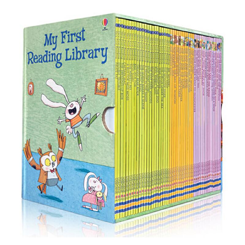 包邮 My First Reading Library 50册盒装我的第1一个图书馆套装 送音频 英文原版 儿童图文故事书 分级阅读 华丽插图和浅显易懂的故事情节 我的图书馆系列 阅读是在学业取得成功的关键,也是一生中获得快乐的源泉。Usborne Very First Reading 帮助儿童发展有信心地阅读和获得快乐的技能和动力