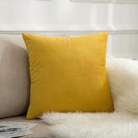 天鹅绒纯色简约靠枕现代丝绒沙发大靠垫床上抱枕靠背垫定制
