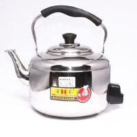 宏艺 不锈钢电热水壶 电水壶6L 水开鸣笛 防干烧