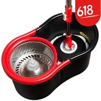 双驱动旋转拖把桶手压式不锈钢篮拖布墩布地拖情人节礼物