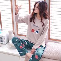 睡衣女春秋款长袖薄款冬季休闲韩版月子套装宽松可外穿家居服