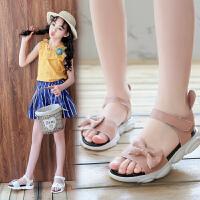 2019夏季新款小公主韩版中大童儿童沙滩鞋女童运动凉鞋软底鞋