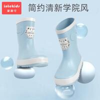 �和�雨鞋男童女防滑水����雨靴水靴小童�r尚幼�盒『⒛z鞋�饶�可拆