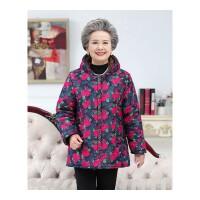 老人冬装棉衣女60-70岁奶奶装加绒棉袄中老年人女装妈妈加厚外套